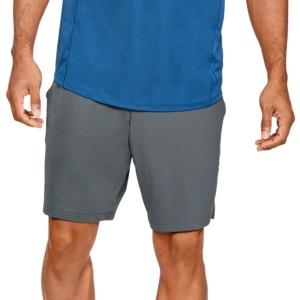 Pantaloncini Tennis Uomo Under Armour MK1 9in Pantaloncini  Pitch Gray/Black 13064340012