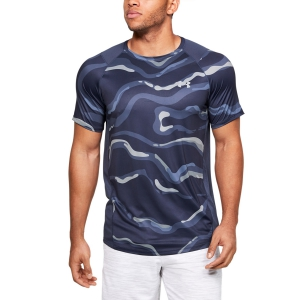 Maglietta Tennis Uomo Under Armour MK1 Printed Maglietta  Blue 13531340497