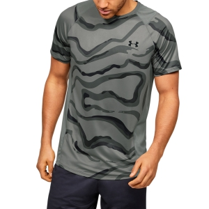 Maglietta Tennis Uomo Under Armour MK1 Printed Maglietta  Green 13531340388