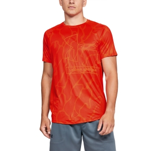 Maglietta Tennis Uomo Under Armour MK1 Tonal Print Maglietta  Orange 13515630856