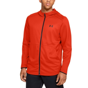 Men's Tennis Shirts and Hoodies Under Armour MK1 WarmUp Fleece  Orange 13452590856