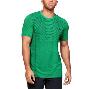 Men's Tennis Shirts Under Armour Seamless Wave TShirt  Green 13514500299