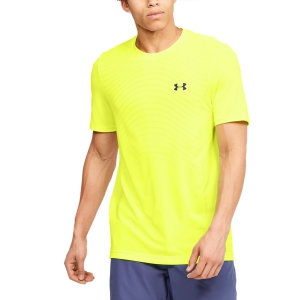 Maglietta Tennis Uomo Under Armour Seamless Wave Maglietta  Yellow 13514500786
