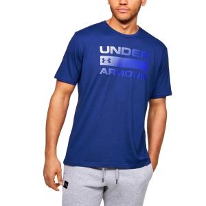 Maglietta Tennis Uomo Under Armour Team Issue Wordmark Maglietta  Blue 13295820449