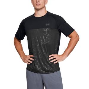 Men's Tennis Shirts Under Armour Tech 2.0 Emboss TShirt  Black 13515610001