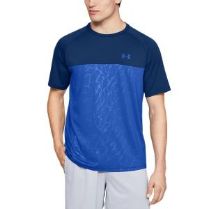 Maglietta Tennis Uomo Under Armour Tech 2.0 Emboss Maglietta  Blue 13515610449