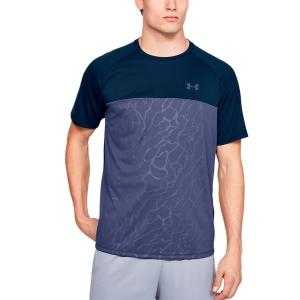 Men's Tennis Shirts Under Armour Tech 2.0 Emboss TShirt  Navy 13515610408