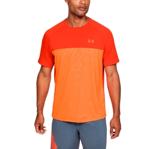 Maglietta Tennis Uomo Under Armour Tech 2.0 Emboss Maglietta  Orange 13515610856