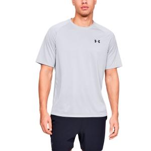 Maglietta Tennis Uomo Under Armour Tech 2.0 Novelty Maglietta  Gray 13453170014