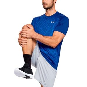 Maglietta Tennis Uomo Under Armour Tech 2.0 Vibe Print Maglietta  Blue 13531850449