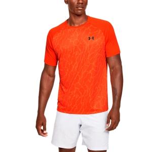 Maglietta Tennis Uomo Under Armour Tech 2.0 Vibe Print Maglietta  Orange 13531850856