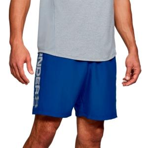Pantaloncini Tennis Uomo Under Armour Woven Graphic Wordmark 8in Pantaloncini  Royal/Steel 13202030400