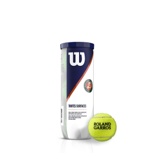 Wilson Tennis Balls Wilson Roland Garros All Court  3 Ball Can WRT126400