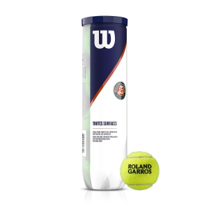 Wilson Tennis Balls Wilson Roland Garros All Court  4 Ball Can WRT116400