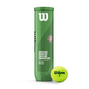 Pelotas Tenis Wilson Wilson Roland Garros Starter Green (Stage 1)  Tubo de 4 Pelotas WRT147500