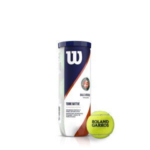 Wilson Tennis Balls Wilson Roland Garros Official Clay Court  3 Ball Can WRT125000