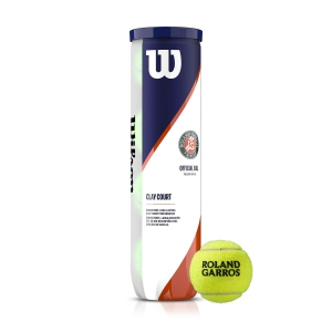 Wilson Tennis Balls Wilson Roland Garros Official Clay Court  4 Ball Can WRT115000