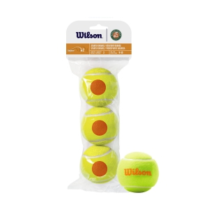 Wilson Tennis Balls Wilson Roland Garros Starter Orange (Stage 2)  3 Ball Pack WRT147700