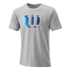 Camisetas de Tenis Hombre Wilson Blur W Tech Camiseta  Heather Grey WRA779602
