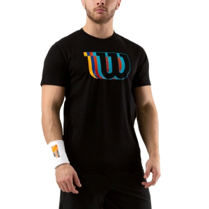 Camisetas de Tenis Hombre Wilson Blur W Tech Camiseta  Black WRA779603