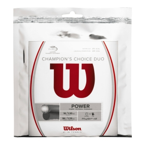 Hybrid String Wilson Champions Choice Duo 1.25 + 1.30 12 m Set  Natural/Silver WRZ997900