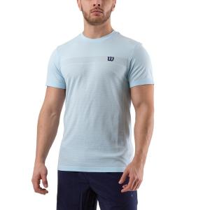 Camisetas de Tenis Hombre Wilson Competition Seamless Crew Camiseta  Glacier Blue WRA773507