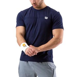 Camisetas de Tenis Hombre Wilson Competition Seamless Crew Camiseta  Peacoat WRA773509