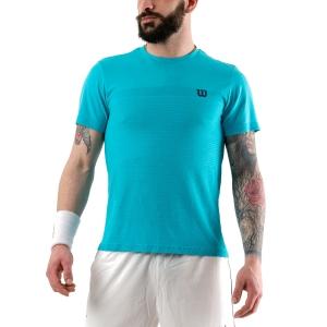 Camisetas de Tenis Hombre Wilson Competition Seamless Crew Camiseta  Scuba Blue WRA773510