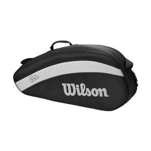 Tennis Bag Wilson Federer Team x 3 Bag  Black WR8005801