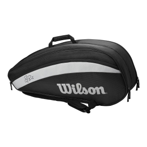 Tennis Bag Wilson Federer Team x 6 Bag  Black WR8005701