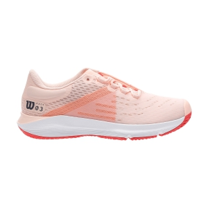 Women`s Tennis Shoes Wilson Kaos 3.0  Tropical Peach/White/Cayenne WRS326140
