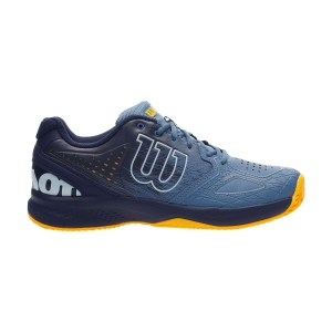 Men`s Tennis Shoes Wilson Kaos Comp 2.0 Clay  Copen Blue/Peacoat/Gold Fusion WRS326570