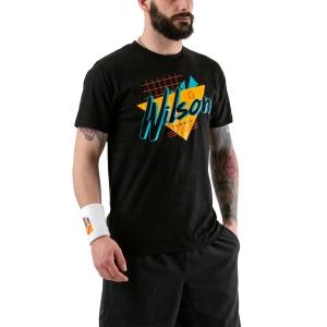 Camisetas de Tenis Hombre Wilson Nostalgia Tech Camiseta  Black WRA779402