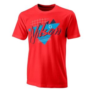 Camisetas de Tenis Hombre Wilson Nostalgia Tech Camiseta  Infrared WRA779403