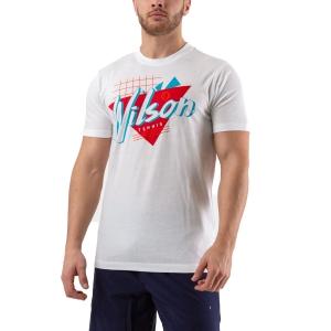 Camisetas de Tenis Hombre Wilson Nostalgia Tech Camiseta  White WRA779401
