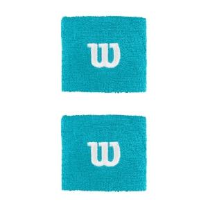 Tennis Head and Wristbands Wilson Logo Wristband  Scuba Blue WR5602017