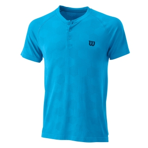 Polo Tenis Hombre Wilson Power Seamless Henley Polo  Coastel Blue WRA778802