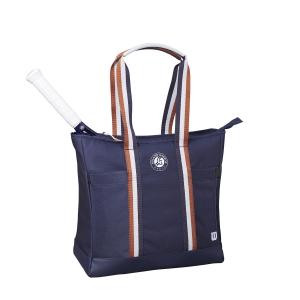 Tennis Bag Wilson Roland Garros Tote Bag  Navy/Clay WR8007001