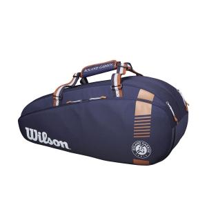 Tennis Bag Wilson Roland Garros Team x 6 Bag  Navy/Clay WR8006701
