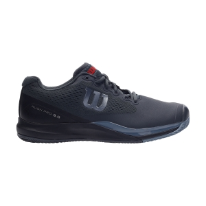 Men`s Tennis Shoes Wilson Rush Pro 3.0 Clay  Ebony/Black/Infrared WRS326630
