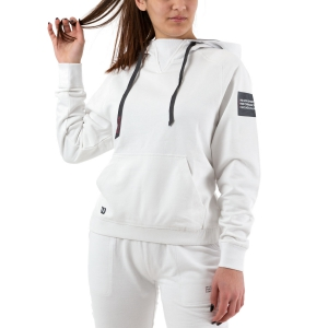 Women's Tennis Shirts and Hoodies Wilson Since 1914 Hoodie  White WRA781502