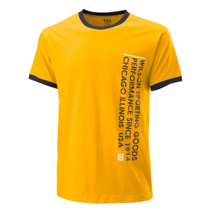 Camisetas de Tenis Hombre Wilson Since 1914 Camiseta  Gold Fusion WRA784205