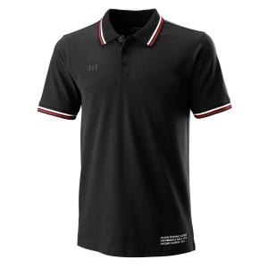 Polo Tenis Hombre Wilson Since 1914 Pique Polo  Black WRA780102