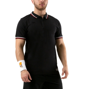 Men's Tennis Polo Wilson Since 1914 Pique Polo  Black WRA780102