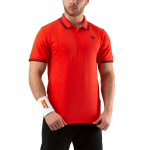 Men's Tennis Polo Wilson Star Tipped Polo  Infrared WRA744810