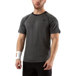 Camisetas de Tenis Hombre Wilson Training Crew Camiseta  Black WRA774104