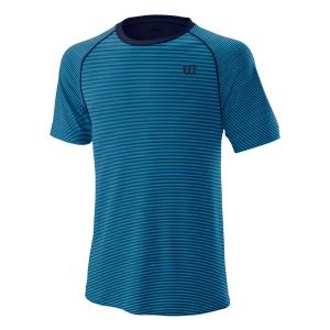 Camisetas de Tenis Hombre Wilson Training Crew Camiseta  Peacoat WRA774105