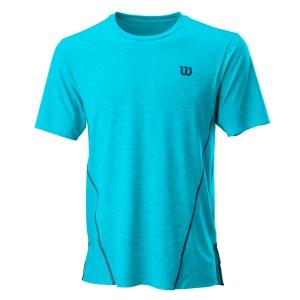 Camisetas de Tenis Hombre Wilson UL Kaos Crew Camiseta  Scuba Blue/White WRA779202