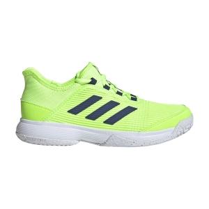 Junior Tennis Shoes Adidas Adizero Club Junior  Signal Green/Ftwr White/Tech Indigo FV4134