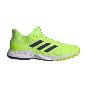 Men`s Tennis Shoes Adidas Adizero Club  Signal Green/Ftwr White/Tech Indigo FU8092